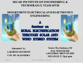 Rural electrification by Lakshmi.Nidoni-seminar ppt