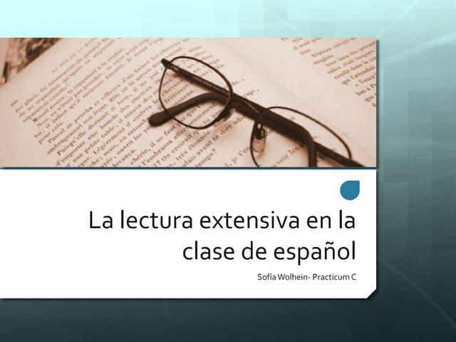 La lectura extensiva en la clase de español