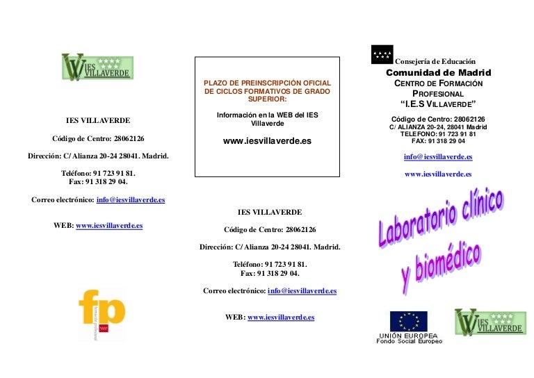 Laloratorio Clinico Biomedico Folleto Ok