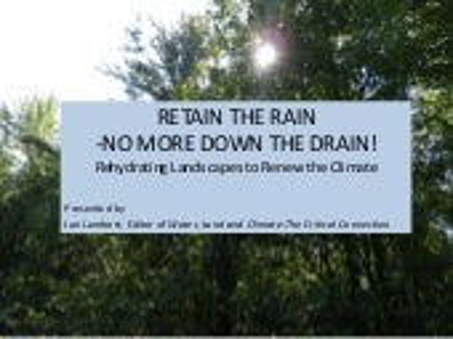 "Jan Lambert, ""Retain the Rain, No More Down the Drain!"""
