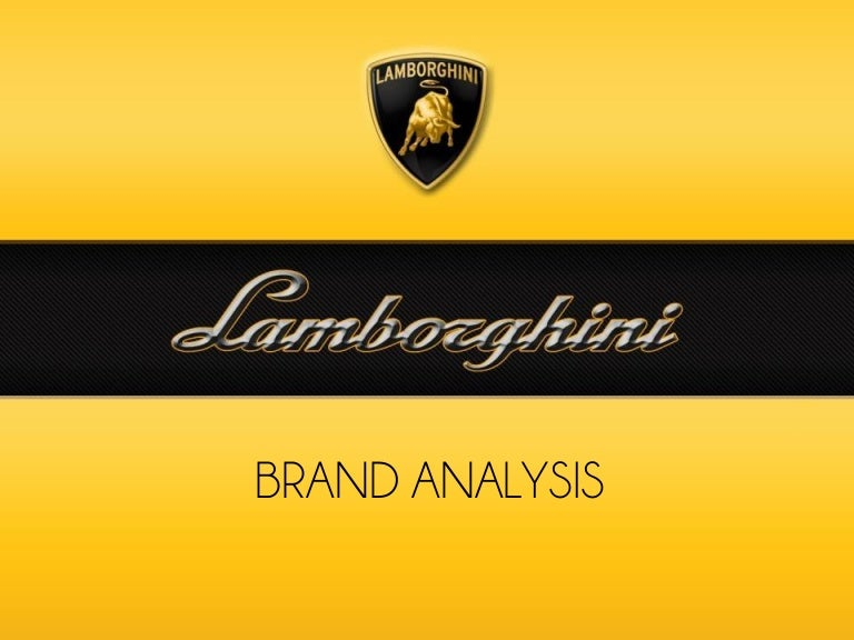 Lamborghini Brand Analysis