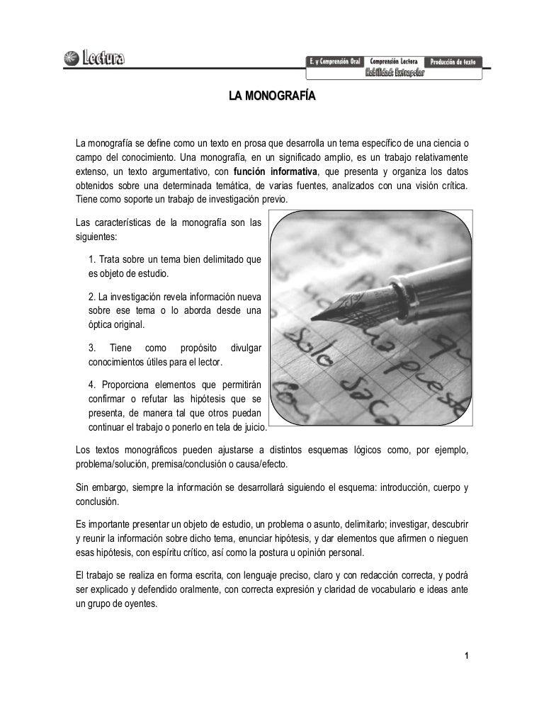 La monograf a for Caracteristicas de una habitacion