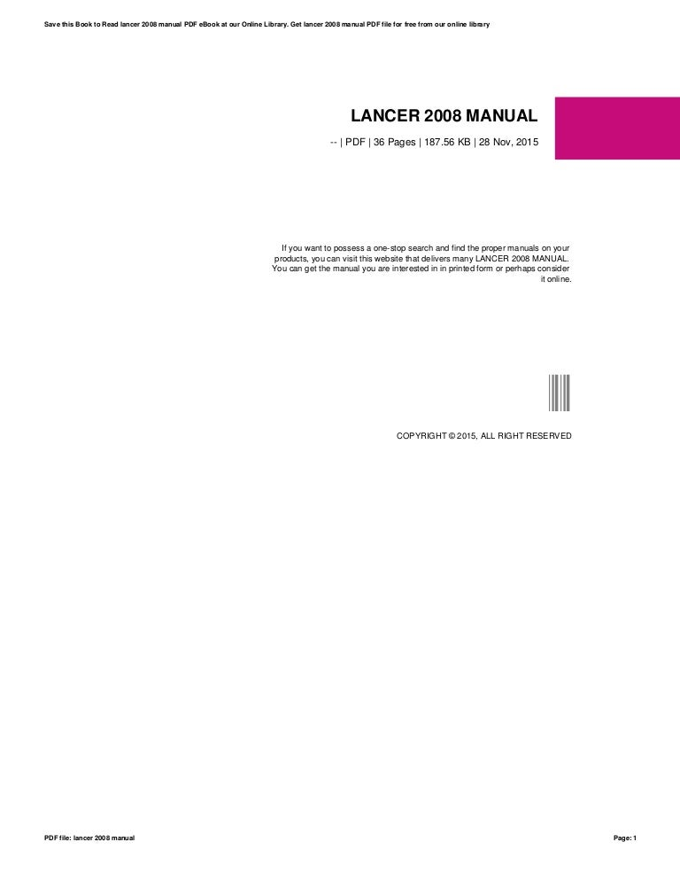 L200 owners manual.