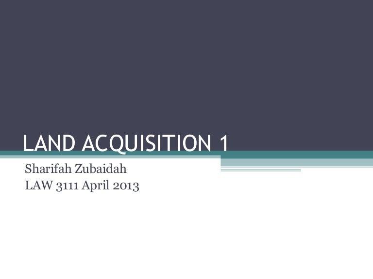 Land Acquisition 1