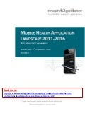 Mobile Health Applications Landscape: Best Practice Examples (2011 - 2016)