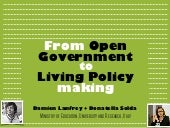 From Open Government to Living Policy Making - 2017 update