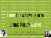 From Open Government to Living Policy Making