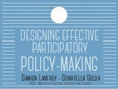 Designing effective participatory policy-making