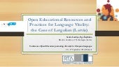 Open Educational Resources and Practices for Language Vitality: the Case of Latgalian