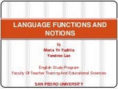 Language functions and notions