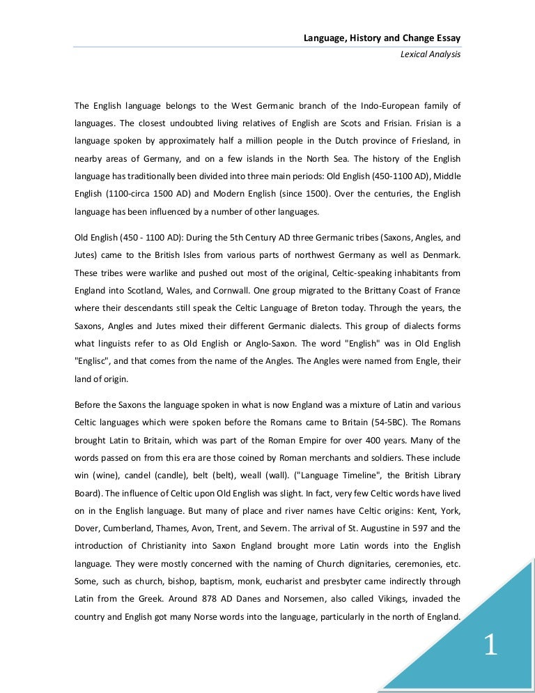 Write essay english language