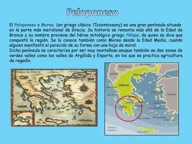 La península del Peloponeso