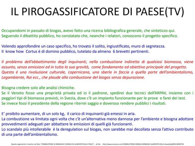 IL PIROGASSIFICATORE DI PAESE (TV)