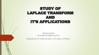 Laplace Transformation & Its Application
