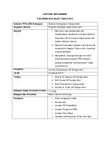 Contoh Report Bergambar