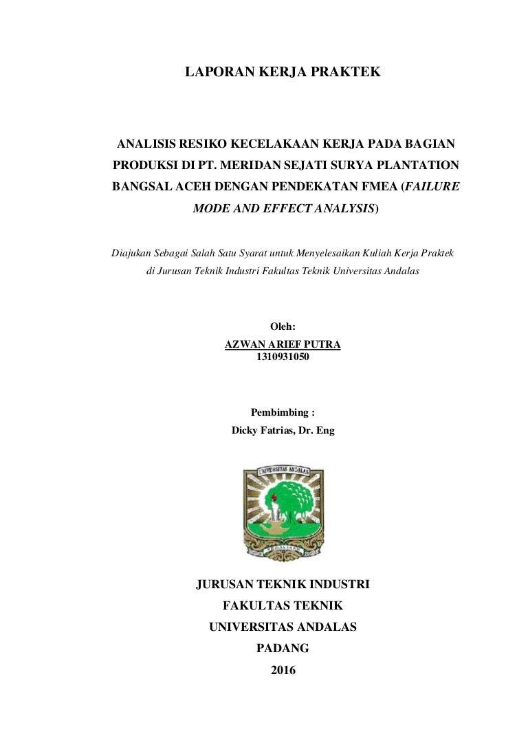 Laporan Kerja Praktek Pt Meridan Sejati Surya Plantation Bangsal Aceh