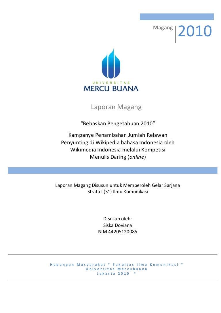 Laporan Magang Wikimedia Indonesia
