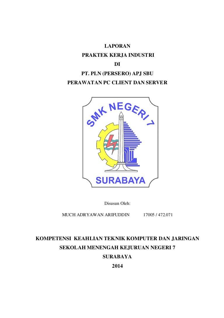 Laporan Prakerin Pt Pln Persero Area Surabaya Utara