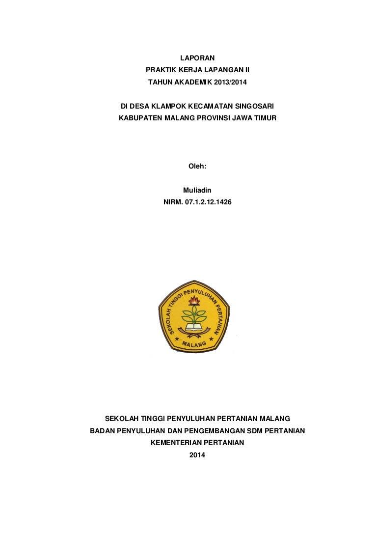 Laporan Pkl Ii Mahasiswa Stpp Malang Ta 2014