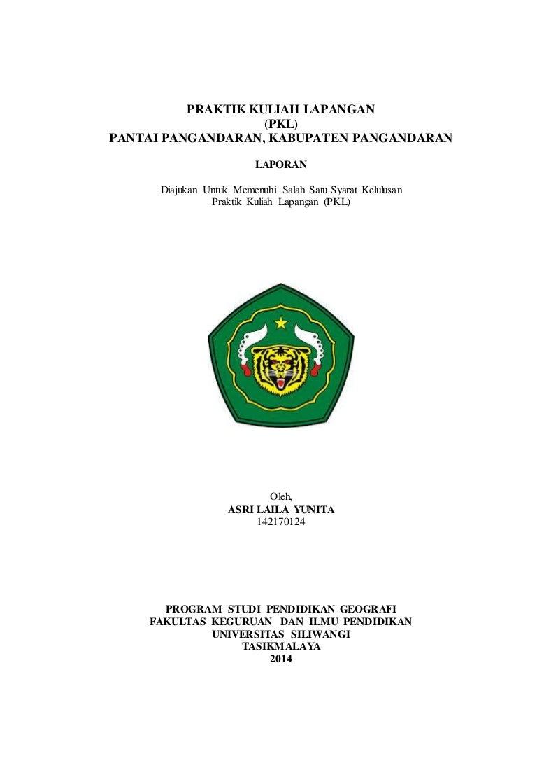Laporan Praktik Kuliah Lapangan Pkl Kawasan Pantai Pangandaran