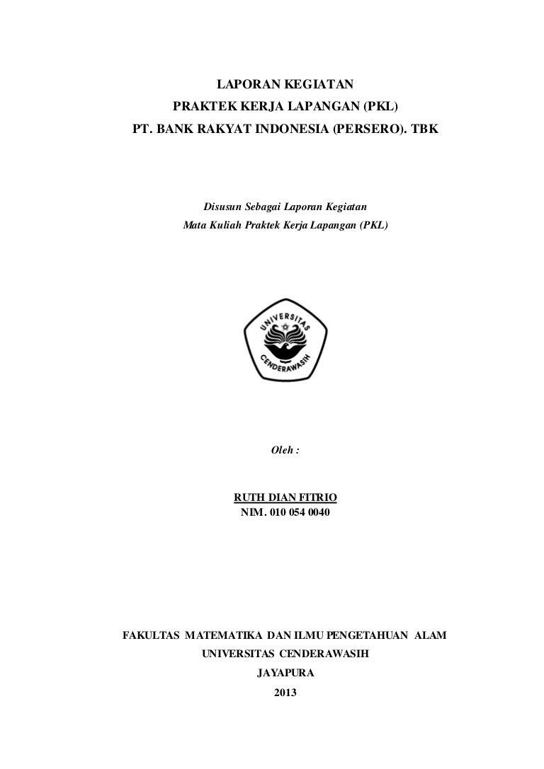Contoh Laporan Pkl Di Bank Syariah