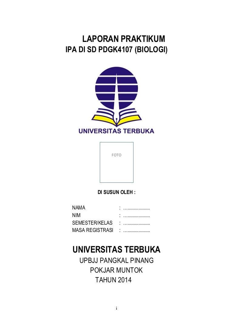 Laporan Praktek Ipa Biologi Ut Pgsd Praktikum Ipa Di Sd Pdgk4107
