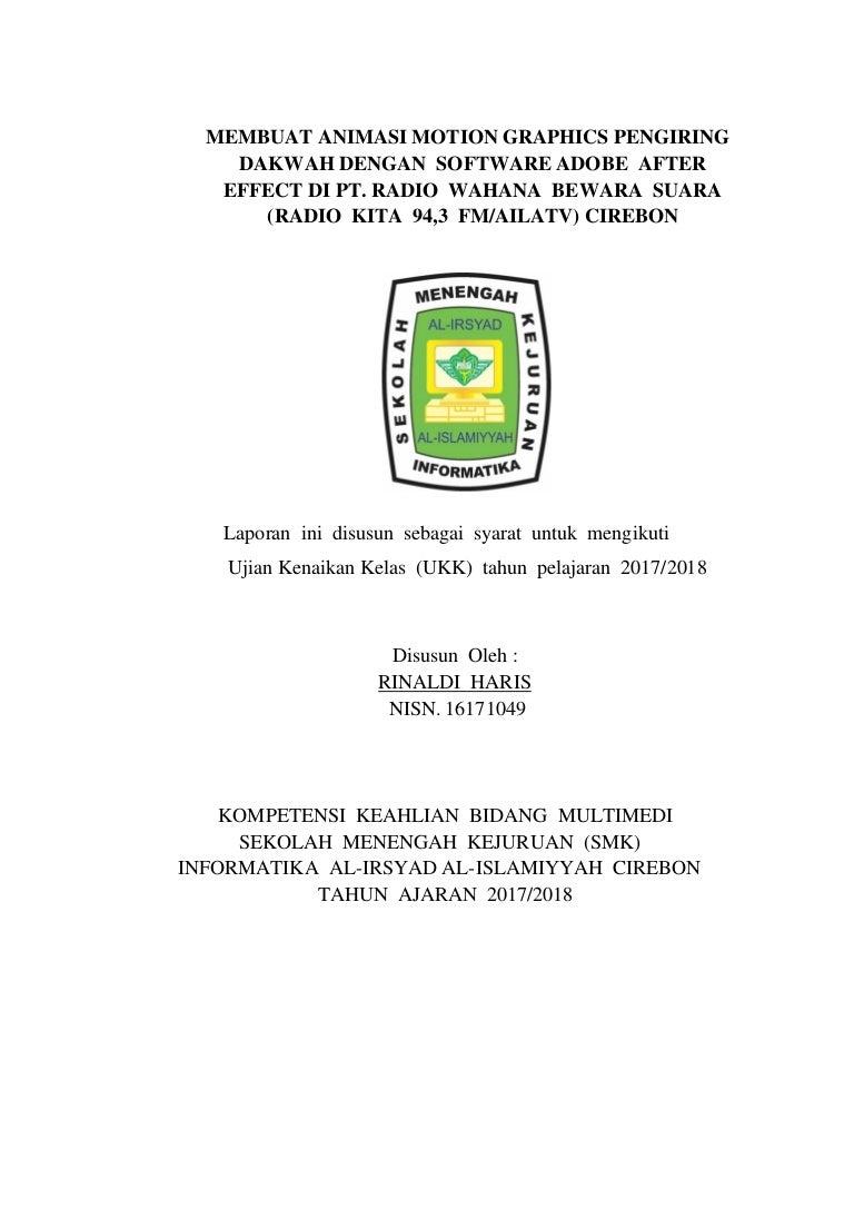 Contoh Laporan Prakerin Jurusan Multimedia Prakerin Radio
