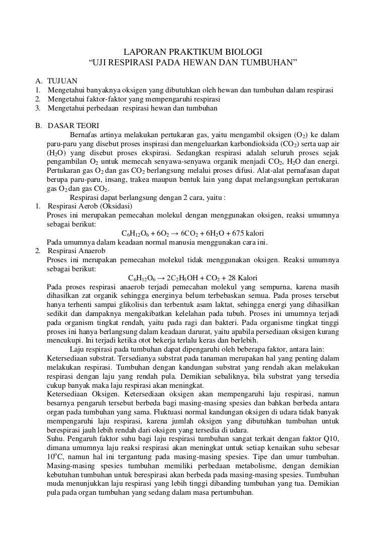Teks Laporan Percobaan Praktikum Biologi Seputar Laporan