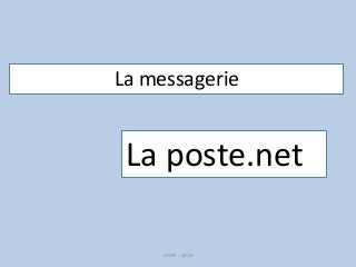 La messagerie La Poste.net