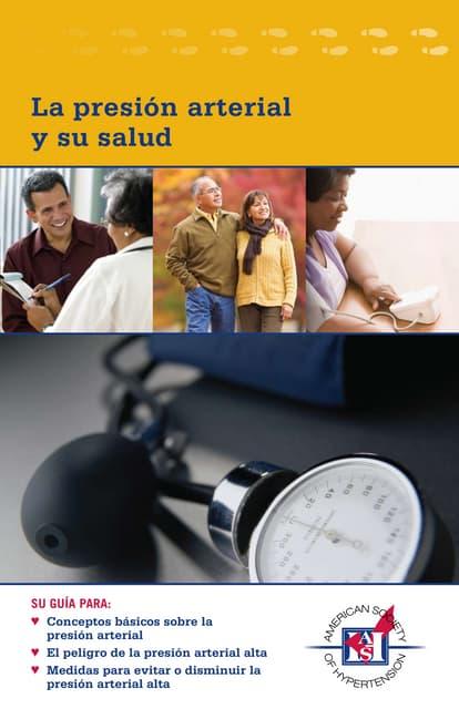La presion arterial y su salud. Cuadra