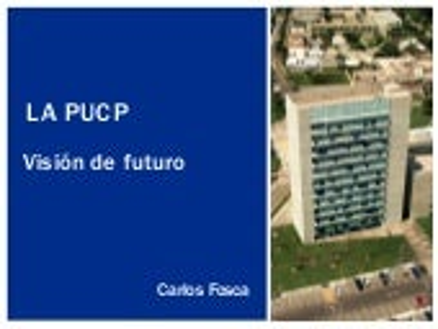 La PUCP y su visión al 2030