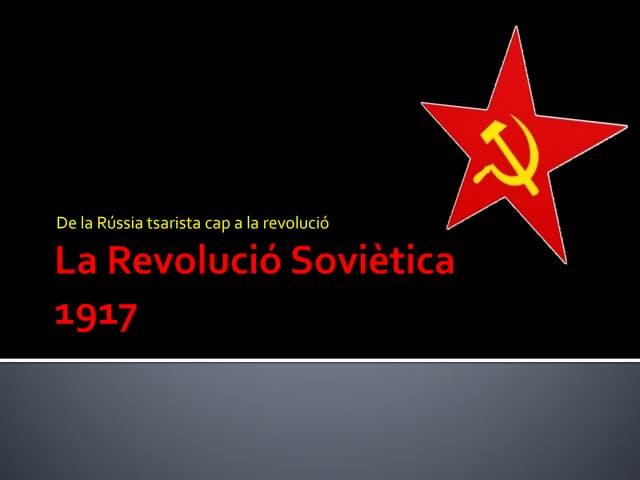 LA REVOLUCIÓ SOVIÈTICA SESSIÓ 2