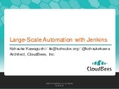 Large scale automation with jenkins