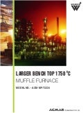 Larger benchtop 1750 °c muffle furnace