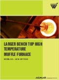 Larger benchtop high temperature muffle furnace
