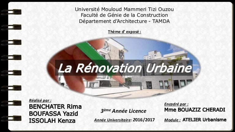 la rénovation urbaine exemple