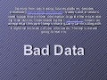 Larry Levin's Blog :  Bad Data