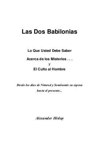 Las dos-babilonias-alexander-hislop