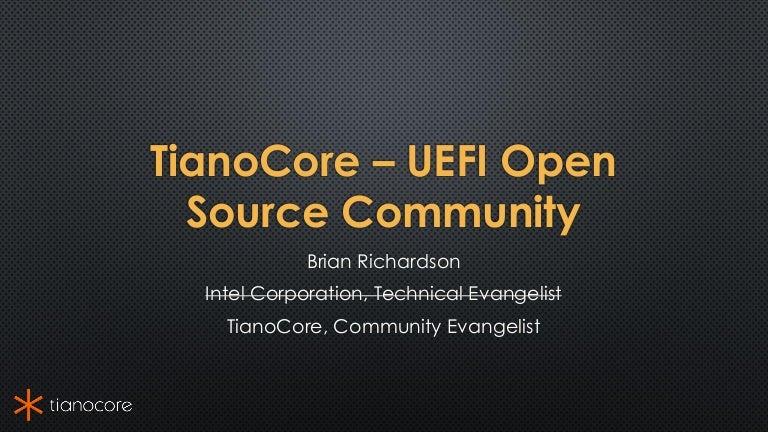 LAS16-400K2: TianoCore – Open Source UEFI Community Update