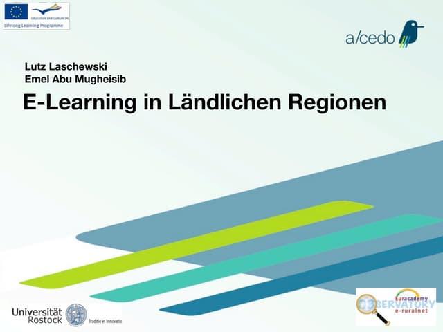 E-learning in Ländlichen Regionen