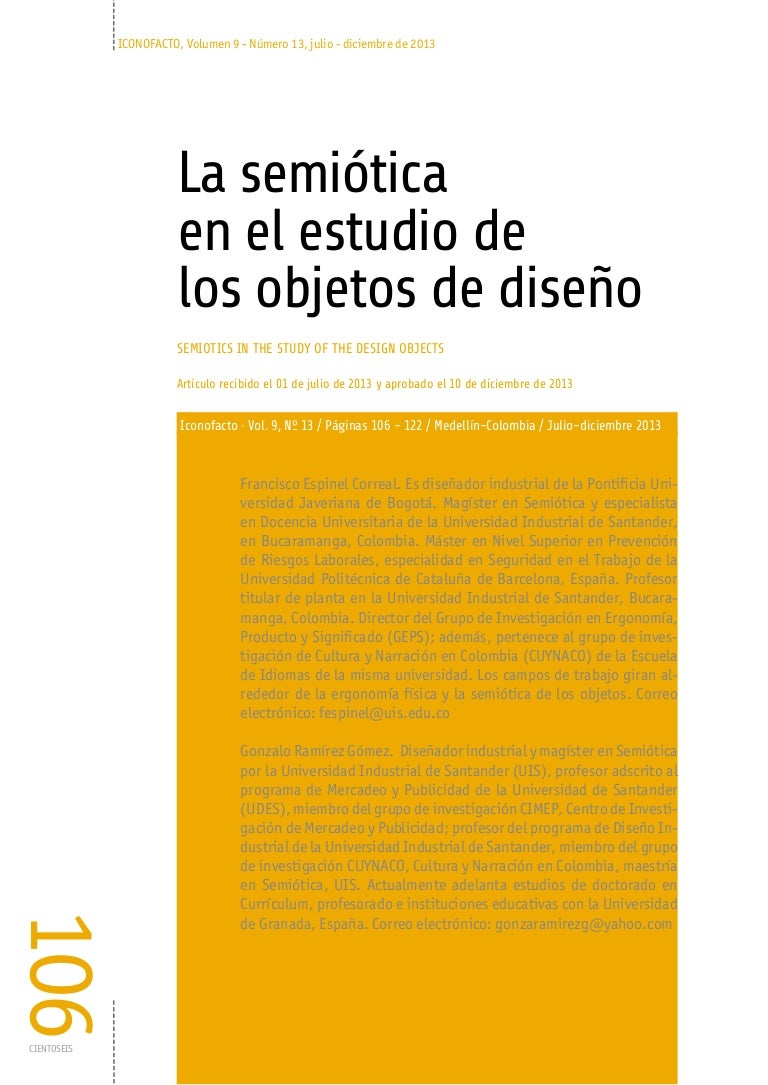 La semiótica en el estudio de los objetos de diseño