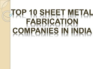 Metal fabrication business plan