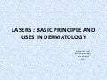 BASICS OF LASER AND IT'S USE IN DERMATOLOGY