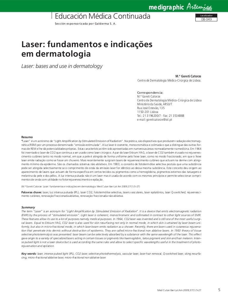 d02bb21a0e412 Laser fundamentos e indicações em dermatologia