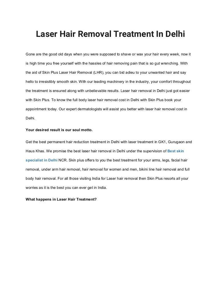 Laser Hair Removal Treatment In Delhi