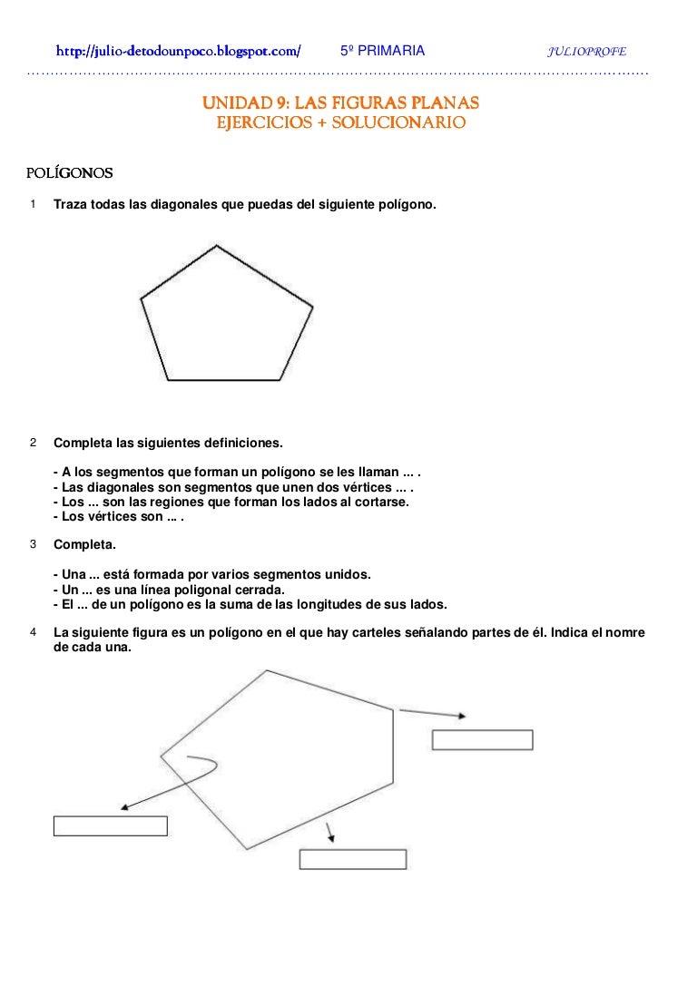 Las Figuras Planas perímetros y áreas Ejercicios + Solucionario