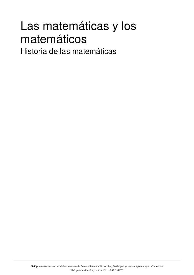 Las matemáticas.historia