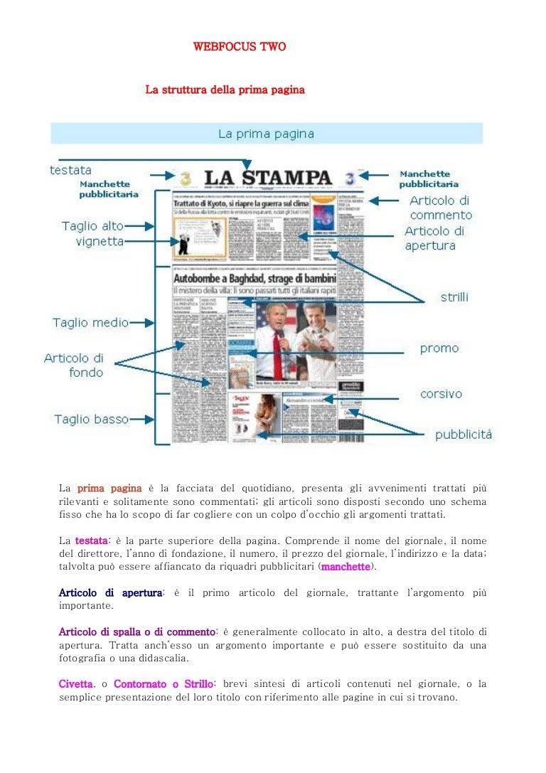 Weblezione2 La Prima Pagina Del Quotidiano
