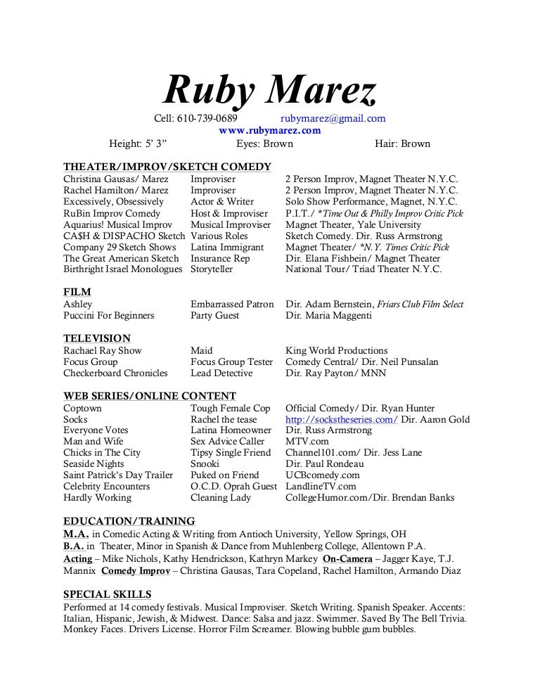 Late october 2013 resume