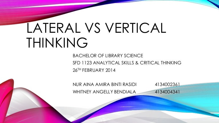 The Fundamental Difference Between Critical  Analytical and